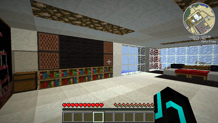Bedroom with another TV Minecraft Modern Mansion Maps Mapping and Modding  Minecraft  Minecraft Modern Bedroom. Minecraft Modern Rooms  universalcouncil info