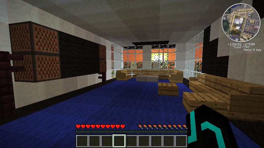 Minecraft living room tv images for Living room ideas minecraft
